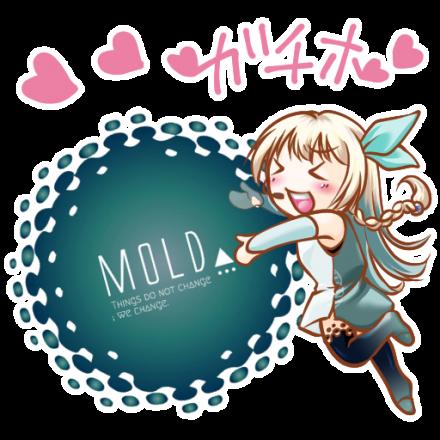 仮想通貨MOLD公式キャラクター「モルカ(Molca)ちゃん」Telegramステッカー_02